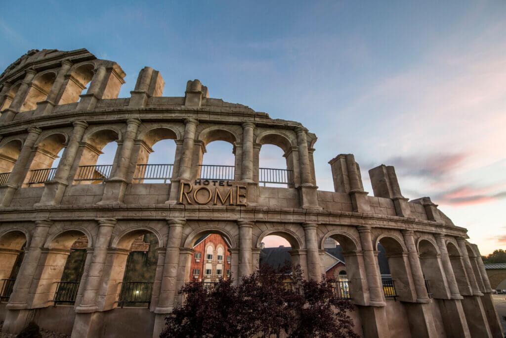 Exterior of Hotel Rome at Mt. Olympus