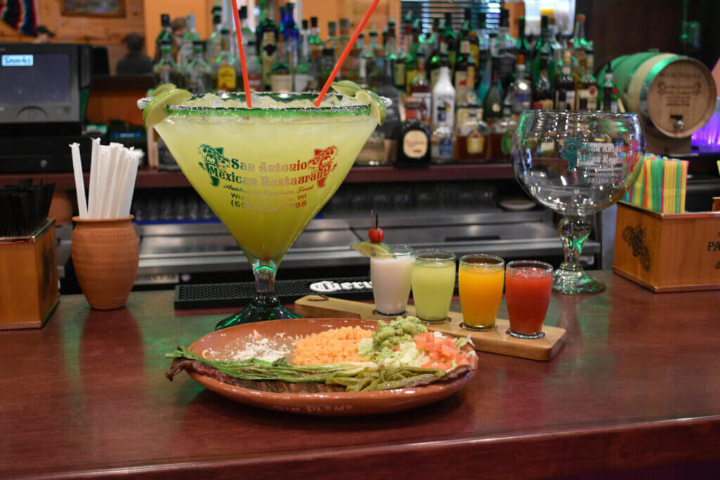 Largest margarita in the Midwest with a margarita flight and Tampiqueña