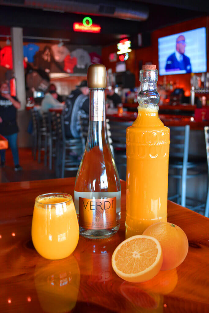 Breakfast mimosas from the Keg & Patio