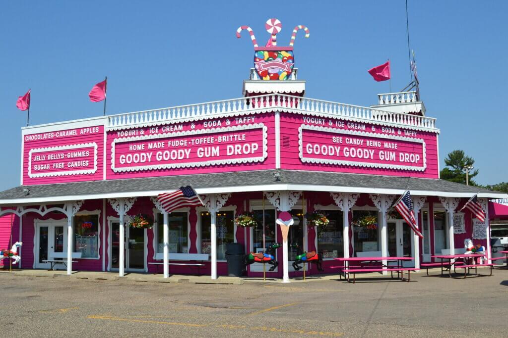 Goody Goody Gum Drop pink exterior